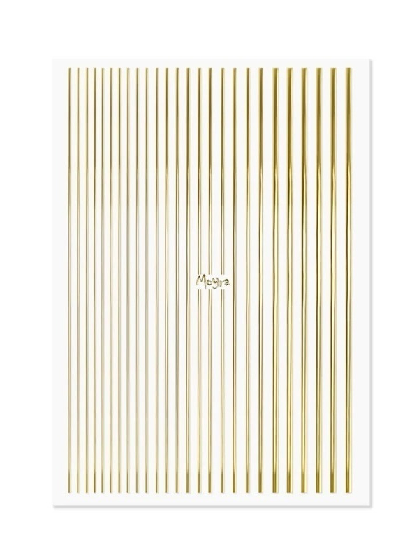 Nailart strips gold