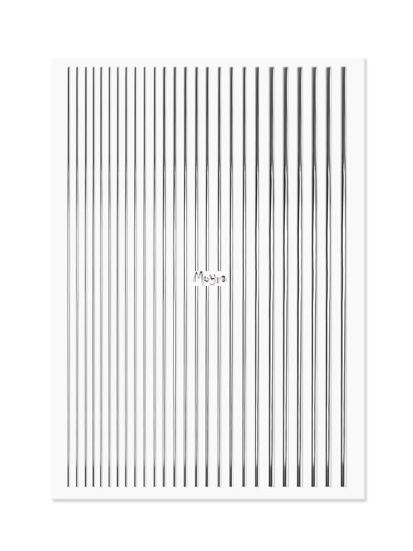 Nailart strips silver