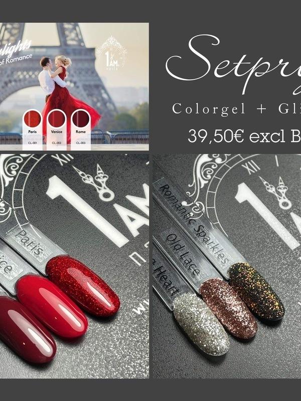Setprijs colorgels + glitters
