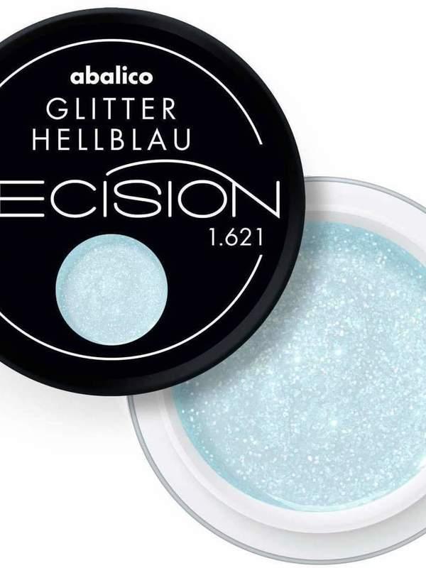 Glitter hellblau