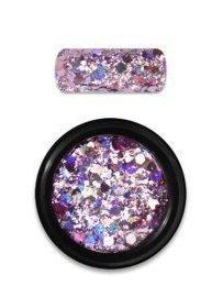 Rainbow holo glitter mix 3 rose