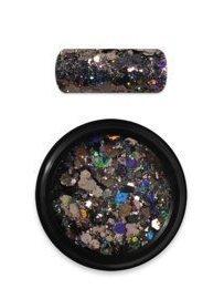Rainbow holo glitter mix 10 black
