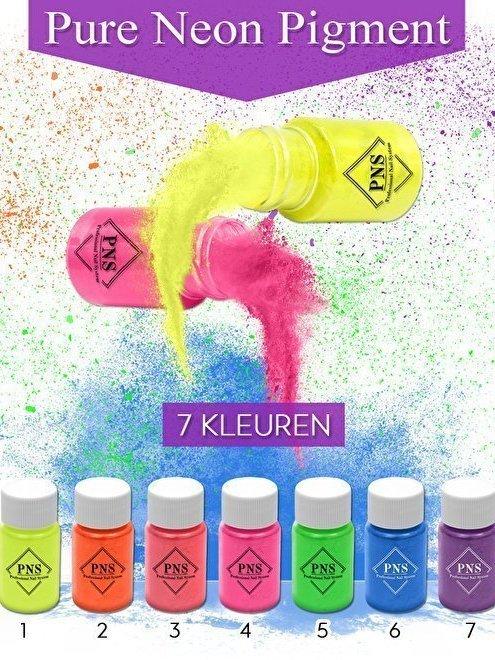 Neon pigment set 1-7