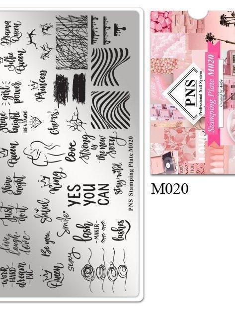 Stempelplaat M020